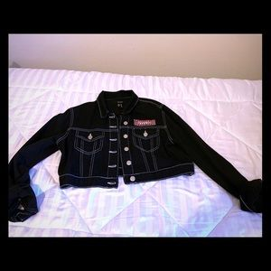 F21 Racer Crop Jacket